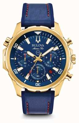 Bulova Chronographe chronographe en cuir pour homme 97B168