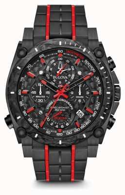 Bulova Precisionist chronographe noir rouge uhf 98B313