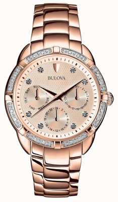 Bulova | diamants femmes cadran en or rose | 98W178