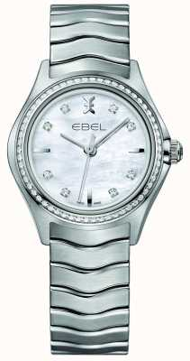 EBEL Montre Wave 66 Diamond Set Quartz 30mm Nacre Femme 1216194