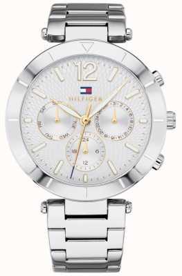 Tommy Hilfiger Womens chloe montre jour date argent ton bracelet 1781877