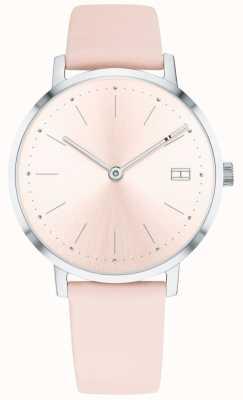 Tommy Hilfiger Womens pippa montre bracelet en cuir rose pâle 1781925