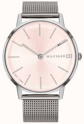 Tommy Hilfiger Womens pippa montre argent bracelet en maille de ton 1781935