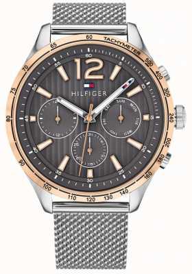 Tommy Hilfiger Montre chronographe gavin pour homme, bracelet en acier maillé 1791466