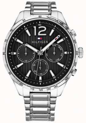 Tommy Hilfiger Bracelet en acier inoxydable avec montre chronographe gavin pour homme 1791469