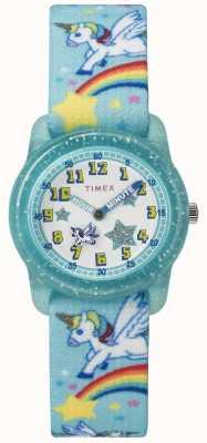 Timex Jeune analogique 28mm sarcelle arc-en-ciel licorne TW7C256004E