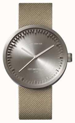 Leff Amsterdam Tube montre d42 boîtier en acier sable bracelet cordura LT72003