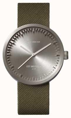Leff Amsterdam Tube montre d42 boîtier en acier vert bracelet cordura LT72004
