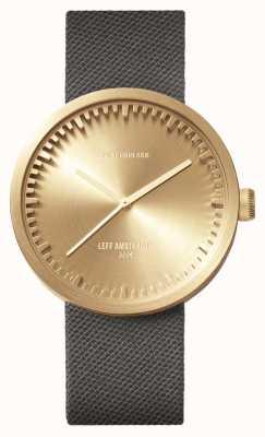 Leff Amsterdam Tube montre d42 boîtier en laiton gris bracelet cordura LT72025