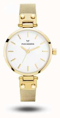 Mockberg Bracelet livia petite pour femme en or avec cadran blanc MO401