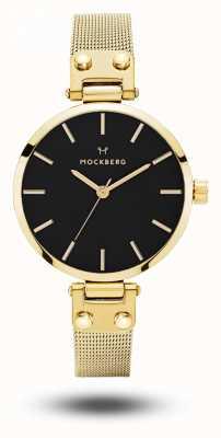 Mockberg Bracelet livia petite noir pour femme en or avec cadran noir MO403