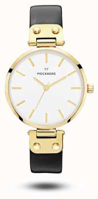 Mockberg Saga des femmes noir bracelet cadran blanc MO107