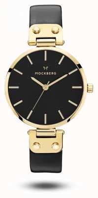 Mockberg Saga or noir pvd case bracelet noir cadran noir MO113