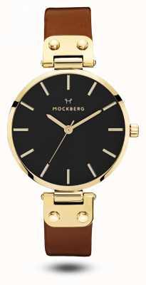 Mockberg Ilse noir pour femme, bracelet marron noir MO114