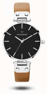 Mockberg Bracelet wera noir pour femme avec cadran noir MO112