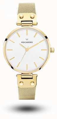 Mockberg Bracelet femme livia plaqué or pvd avec cadran blanc MO1601