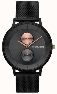 Police Montre à mailles noires Berkeley Mens 15402JSB/61MM