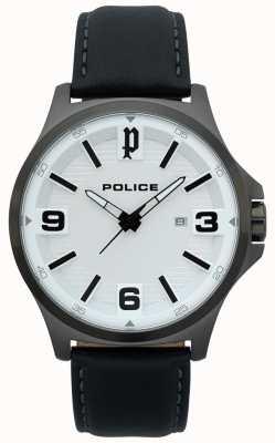 Police Montre homme en cuir noir clan 15384JSU/04