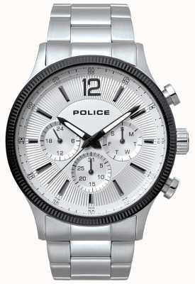 Police Mens feral en acier inoxydable et montre noire 15302JSTB/01M