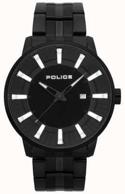 Police Montre homme plaquée pvd noir silex 15391JSB/02M