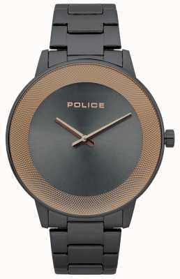 Police Montre minimaliste en acier inoxydable pour homme 15386JSU/61M