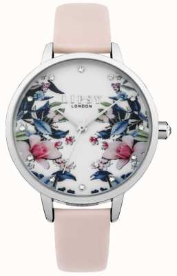 Lipsy Montre à cadran floral à bracelet rose pour femme LP573