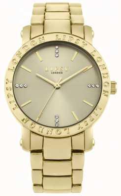 Lipsy Cadran en or pour femme, montre bracelet en or LP566