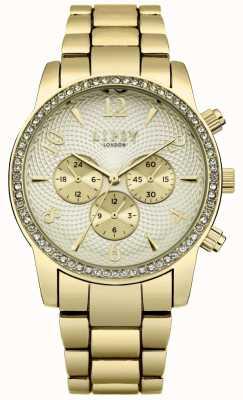 Lipsy Bracelet en or pour femme avec cadran blanc cassé LP563