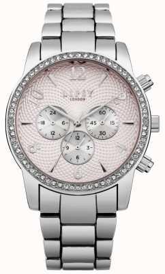 Lipsy Womens rose cadran montre bracelet en argent LP562
