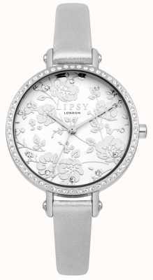 Lipsy Montre à cadran floral à bracelet en argent pour femme LP567