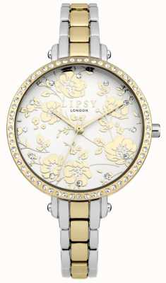 Lipsy Womens deux tons montre florale LP568