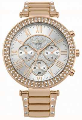 Lipsy Montre chronographe en or rose pour femme LP580