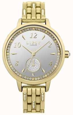 Lipsy Womens stone set montre en plaqué or LP583