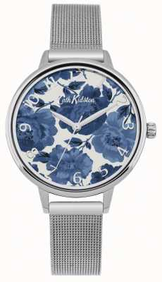 Cath Kidston Womens floral argent maille montre CKL051SM