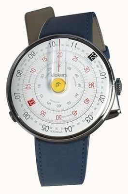 Klokers Klok 01 jaune tête de montre indigo bleu unique sangle KLOK-01-D1+KLINK-01-MC3
