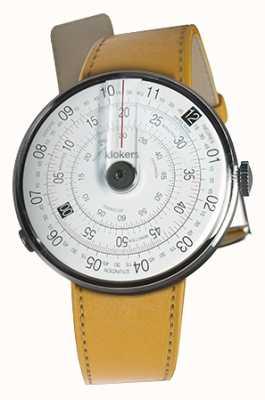 Klokers Klok 01 noir tête de montre newport jaune sangle unique KLOK-01-D2+KLINK-01-MC7.1