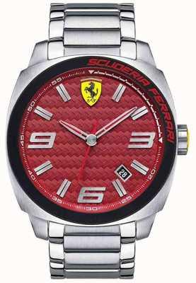 Scuderia Ferrari Aero evo mens acier inoxydable 0830167