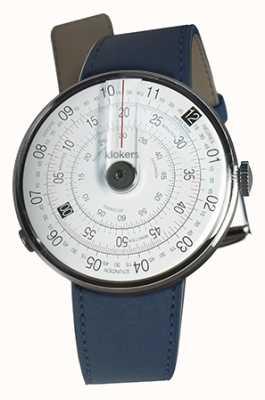 Klokers Klok 01 tête de montre noire double bracelet bleu indigo KLOK-01-D2+KLINK-02-380C3