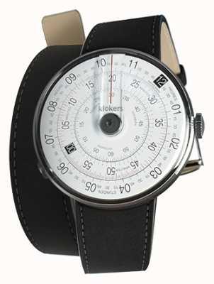Klokers Klok 01 noir tête de montre mat noir 420mm double sangle KLOK-01-D2+KLINK-02-420C2