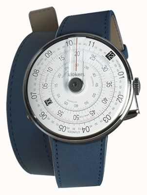 Klokers Klok 01 noir tête de montre indigo bleu 420mm double sangle KLOK-01-D2+KLINK-02-420C3