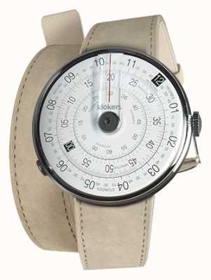 Klokers Klok 01 noir tête de montre gris alcantara 420mm double sangle KLOK-01-D2+KLINK-02-420C6