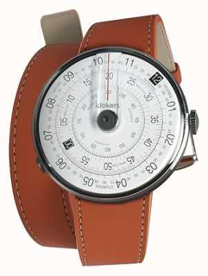 Klokers Klok 01 noir tête de montre orange 420mm double sangle KLOK-01-D2+KLINK-02-420C8