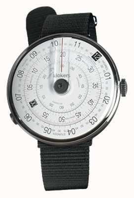 Klokers Klok 01 noir tête de montre noir textile sangle unique KLOK-01-D2+KLINK-03-MC3