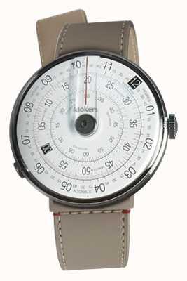 Klokers Klok 01 noir tête de la montre grege strait sangle unique KLOK-01-D2+KLINK-04-LC9