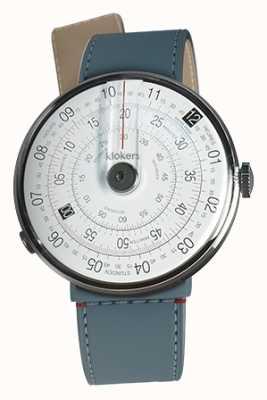 Klokers Klok 01 noir tête de la montre bleu jean strait sangle unique KLOK-01-D2+KLINK-04-LC10
