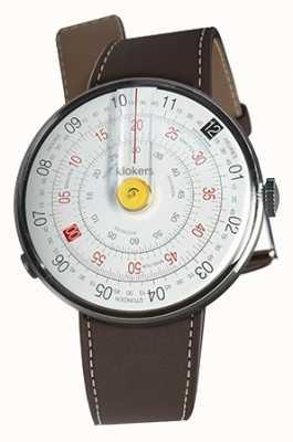 Klokers Klok 01 tête de montre jaune chocolat brun bracelet unique KLOK-01-D1+KLINK-01-MC4
