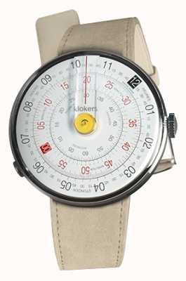 Klokers Klok 01 jaune tête de montre gris alcantara simple sangle KLOK-01-D1+KLINK-01-MC6