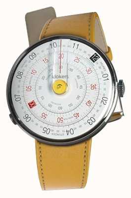 Klokers Klok 01 jaune tête de montre newport jaune sangle unique KLOK-01-D1+KLINK-01-MC7.1