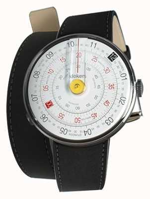 Klokers Klok 01 jaune tête de montre mat noir double sangle KLOK-01-D1+KLINK-02-380C2