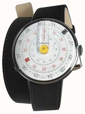 Klokers Klok 01 jaune tête de montre mat noir 420mm double sangle KLOK-01-D1+KLINK-02-420C2
